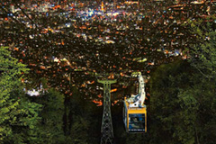 Ropeway and night view